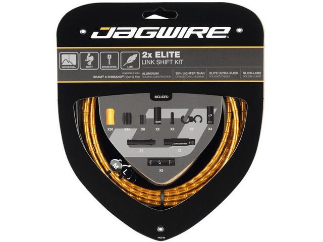 Jagwire 2X Elite Link Shift Cable Set gold